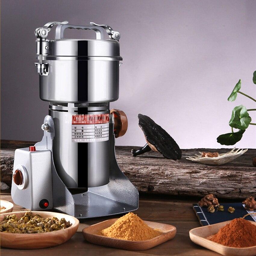 Máquina de polvo ultradelgada para hogar Molino de alimentos de 800Y, grano de molienda seca, molinillo de medicina Herbal china, 220V, 1400W, 800G