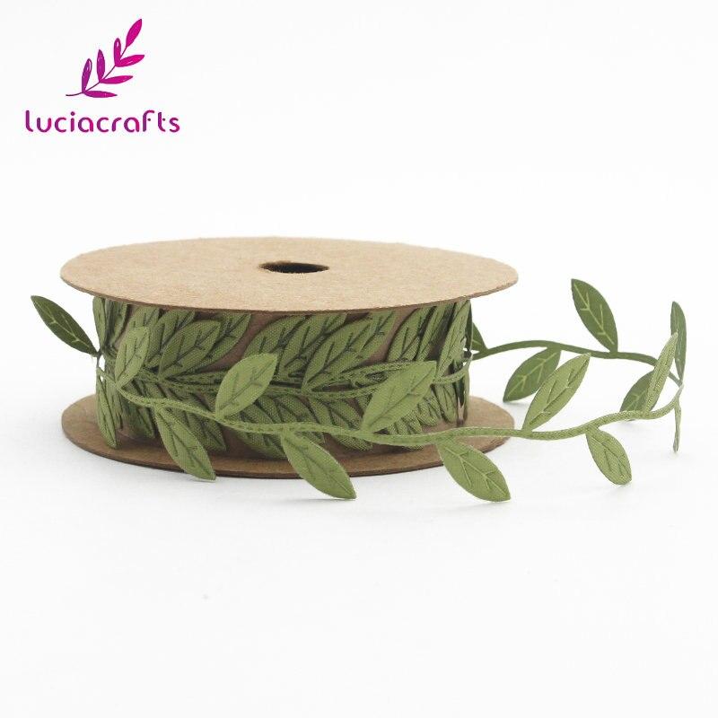 Lucia artesanato 2.5cm folhas guarnição do laço enfeite fitas de folha diy costura feltro guirlandas vestuário kraft tecido apliques q0607