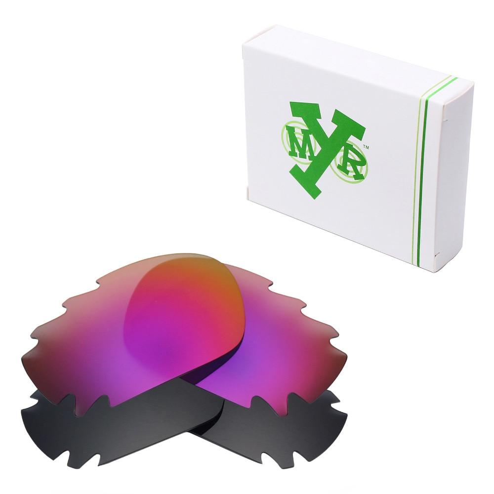 2 pares de lentes de repuesto polarizadas Mryok para gafas de sol con ventilación de hueso de roble negro Stealth y sol de medianoche
