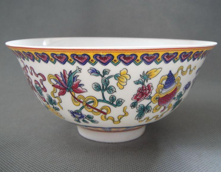 Чаша с цветами, китайский Jingdezhen Fencai