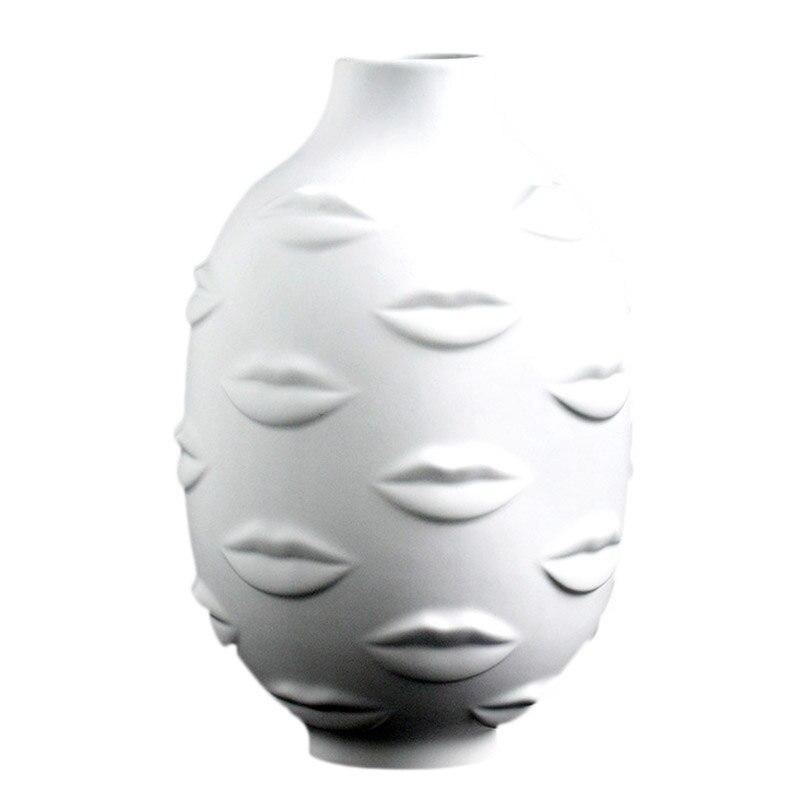Artistas, plantas en macetas, plantas en macetas, decoración de jardín, jarrón de cerámica blanco