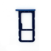 DOUBLE SIM Micro SD Carte Plateau Fente de Support de Remplacement pour Huawei P20 lite Nova 3e (Bleu)