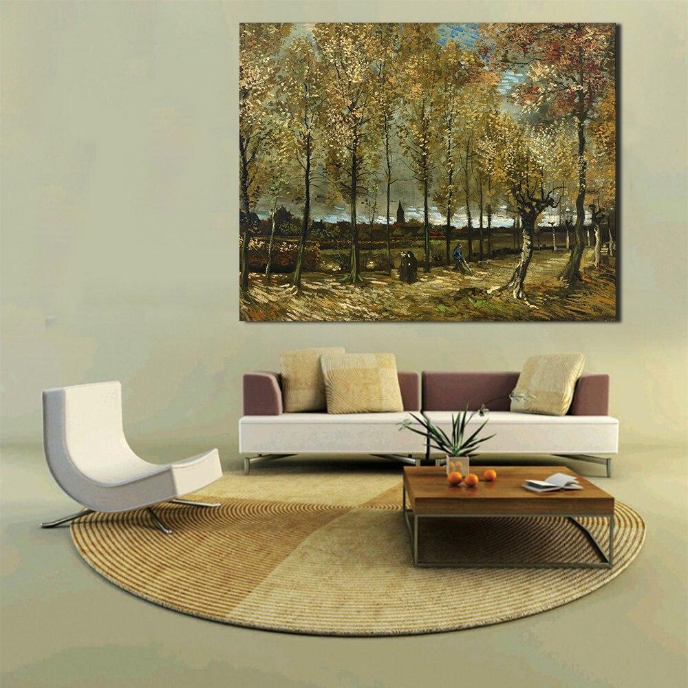 Cuadro de pintura al óleo sobre lienzo de pintura de pared con...