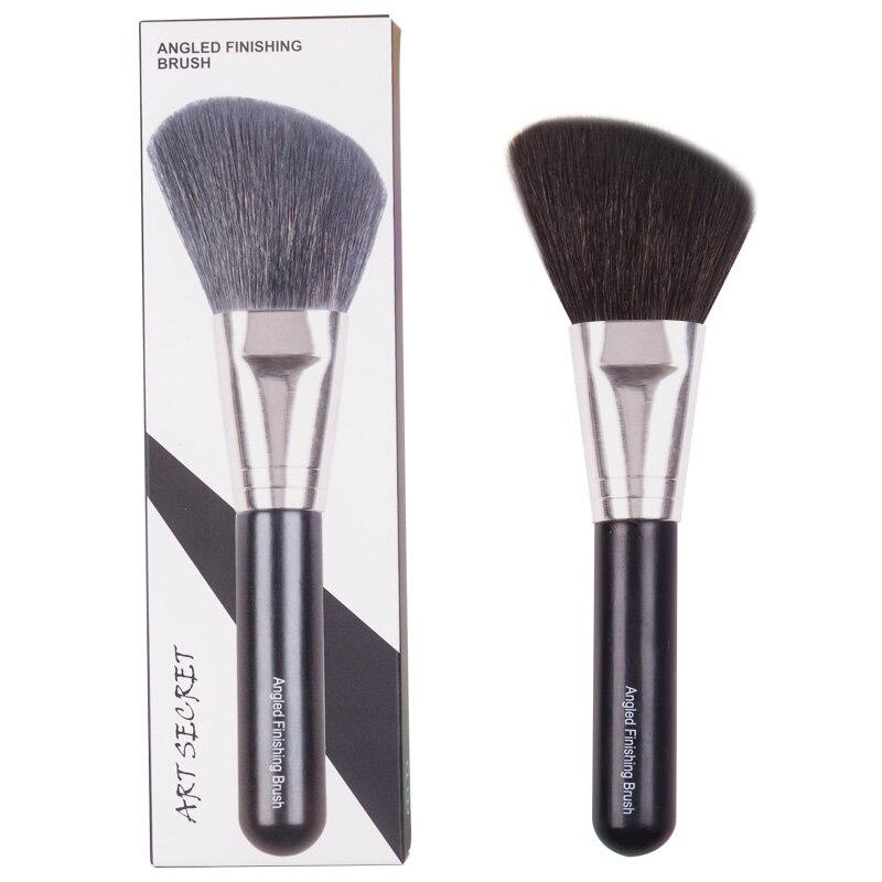 SM01 profesjonalny pędzel kątowy rumieniec pędzel do makijażu narzędzie kosmetyczne grzywny kozy niebieski wiewiórka włosy mieszane mosiądz okucie drewna uchwyt