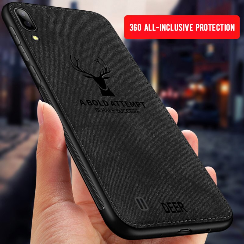 Capa completa para samsung galaxy m10 m20 a30 a50 tecido em relevo veados tpu caso para samsung a 30 50 m 10 m20 silicone caso de telefone