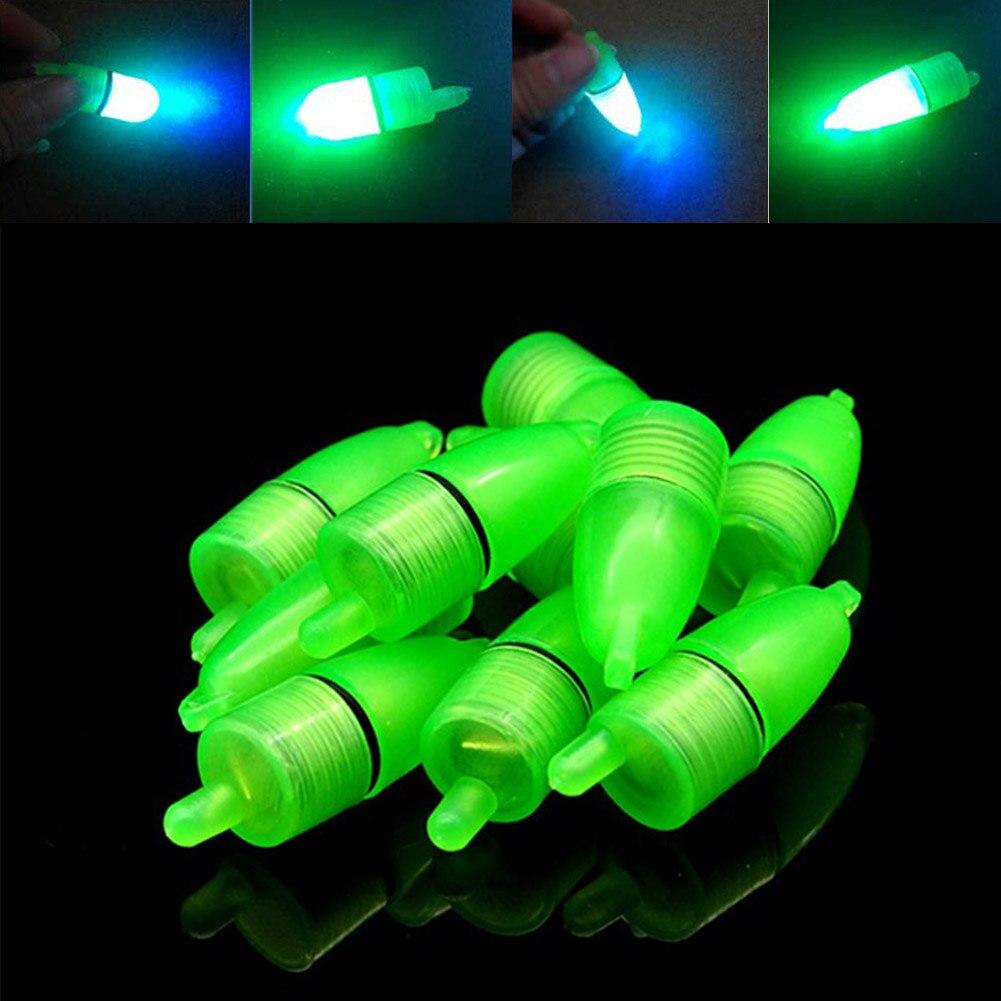 New 10 Pcs LED Light Night Float Fishing Rod Bite Shing Accessories XD88