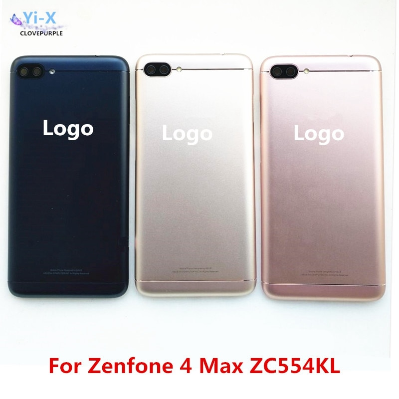 Cubierta trasera para Asus Zenfone 4 Max ZC554KL batería puerta trasera carcasa con lente de cámara