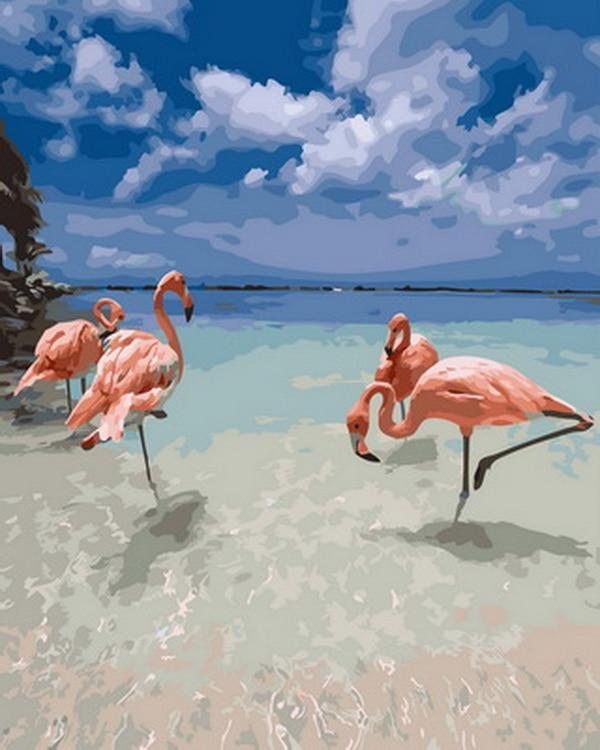 Sem moldura pintura a óleo por números pintura por número de imagem pintura a óleo decoração da sua casa 5065 centímetros Flamingo no rio