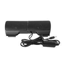 1 пара мини стереодинамиков USB 3,5 мм с линейным управлением, стереозвук с зажимом для ноутбука, ноутбука, ПК, компьютера