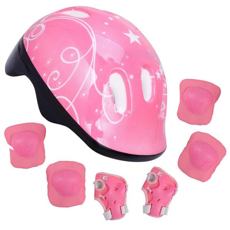 7 шт./компл. Малыш для катания на роликовых коньках скейтборд Регулируемая докоть наколенники наручные защитный спорт на открытом воздухе защитный шлем