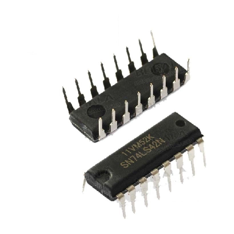 10 Uds SN74LS42N 74LS42 IC de 4 líneas BCD/DEC depod 16-DIP nuevo