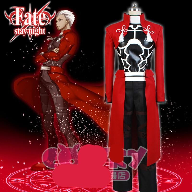 EMIYA cosplay destin séjour nuit cosplay déguisement archer rouge A emiya cosplay costume uniforme oufit tombé ensemble