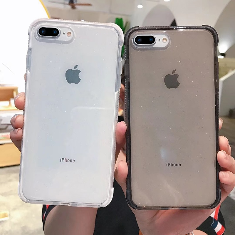 Блестящие Чехлы для iPhone X XR XS MAX XMAX 10 8 7 Plus 6 6 s, прозрачный мягкий ТПУ противоударный чехол с логотипом