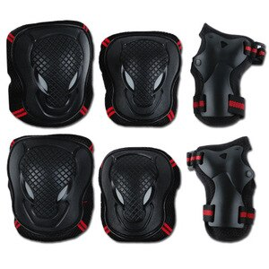 Outdoor skating protective gear 6 piece set adult children thickening balance car men and women skateboard knee pads