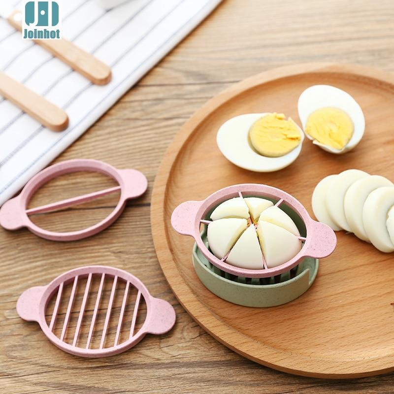 Cortador de huevos de paja JOINHOT, dispositivo divisor de alimentos, rebanador de huevos, regalos, alta calidad, 4 colores