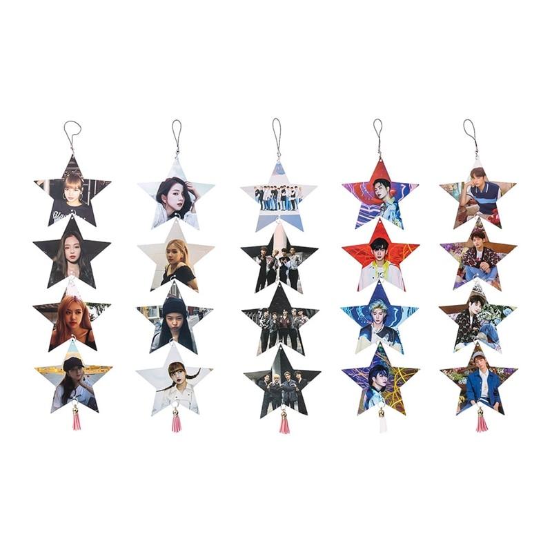 Kpop BLACKPINK GOT7 TXT SEVENTEEN Star Shaped Pendant Size 12*12cm  Photo Decoration Tag