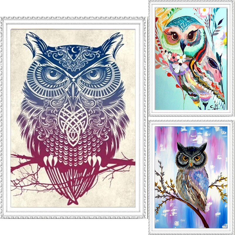 5D DIY New Animals Owl Diamond Embroidery Diamond Painting Cross Stitch Picture Of Rhinestones Full Square Diamond Mosaic Kits