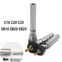 1pcs c16 c20 c25 ter er16 er20 er25 80l 100l floating telescopic extended tool holder thread tapping tool holder cnc lathes
