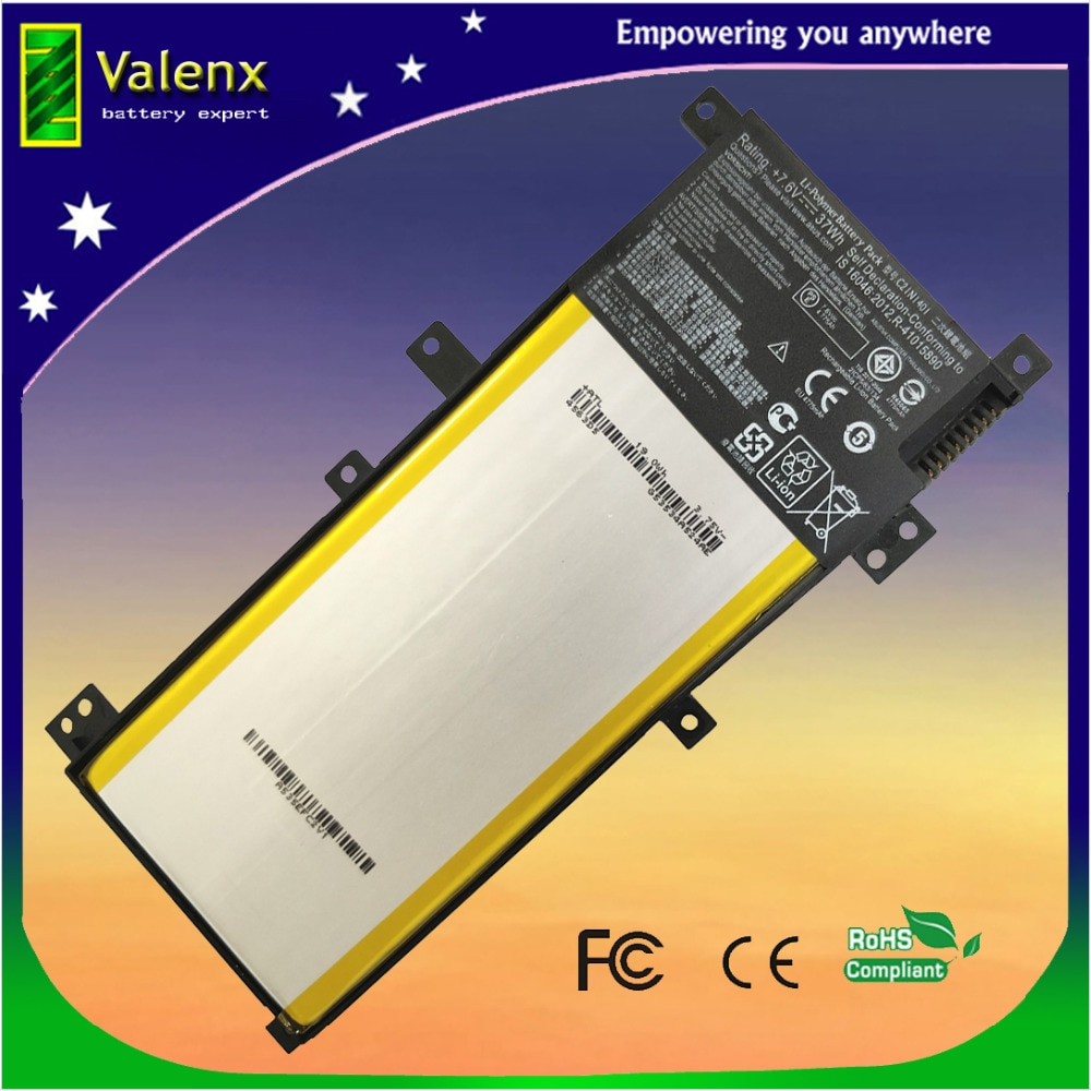7.6V C21N1401 Laptop Battery For ASUS X455 X455L X455LA A455L A455LD A455LN F455L K455L X454W Y483LD W419L PP21AT149Q-1
