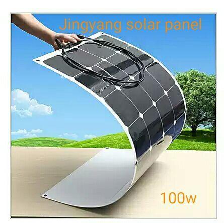 Nueva Energía Verde, 100 vatios 12V panel de alimentación solar flexible generación usando Célula de energía solar