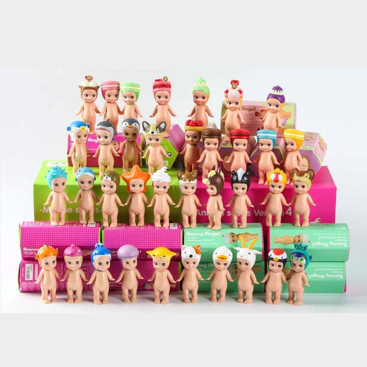 12pçs/set três tipos sonny angel marinho série animal, pvc figura de ação, modelo colecionável, brinquedo, presente de natal para crianças