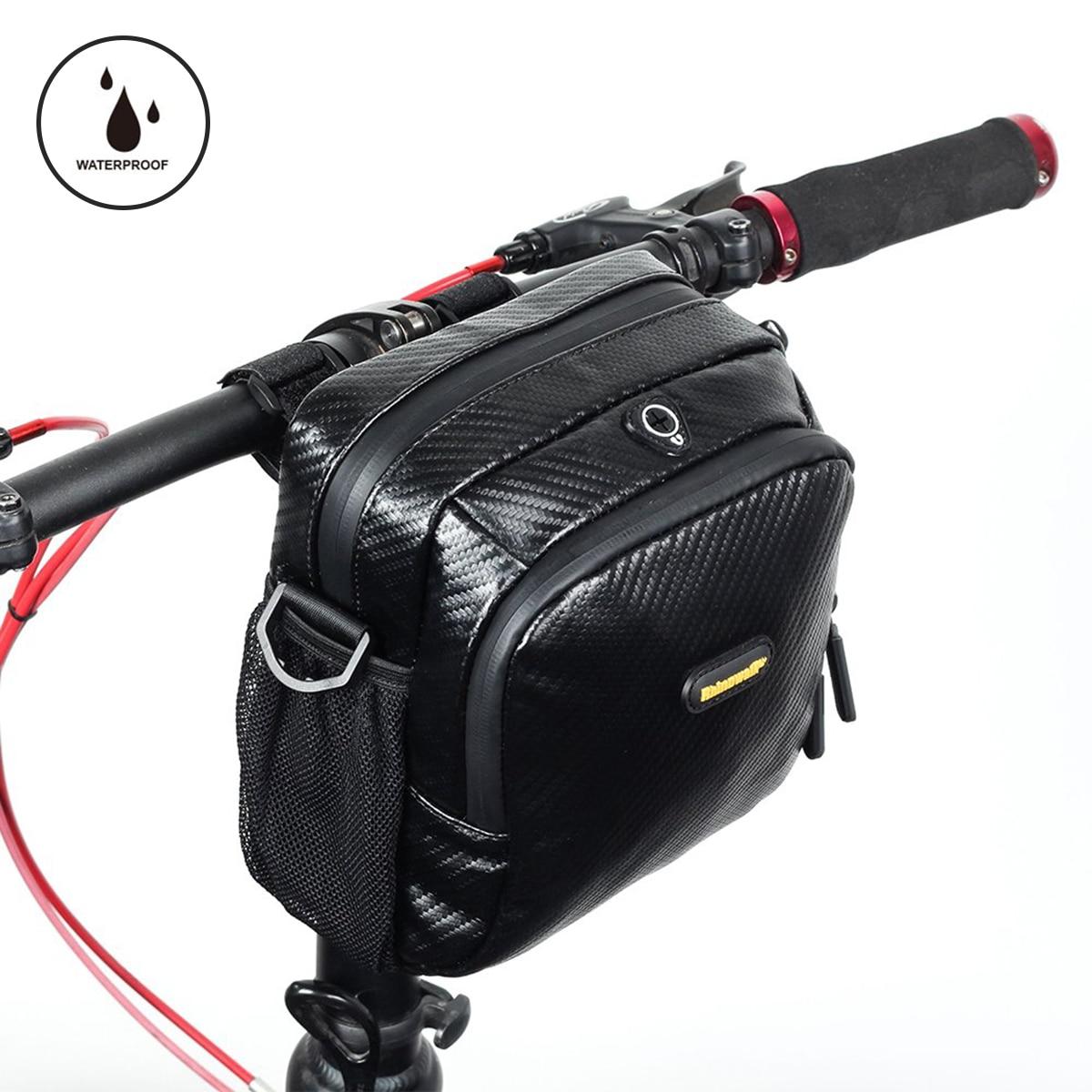 Waterproof  dustproof Bicycle Front Tube Bags Big Capacity MTB Cycling Handlebar Bags Front Frame Trunk Pannier Bike Accessories