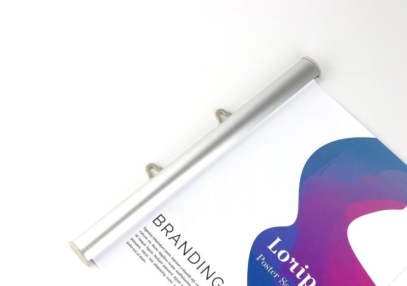 120 cm de Alumínio Semi aberto cartaz bandeira faixa de suporte Loja logo empresa de publicidade suporte de etiqueta tira ferroviário snap Moldura de Cartaz