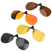 Driver Goggles Car Driving Night Vision Lens Clip On Sunglasses For Men Women Anti-UVA UVB Polarized