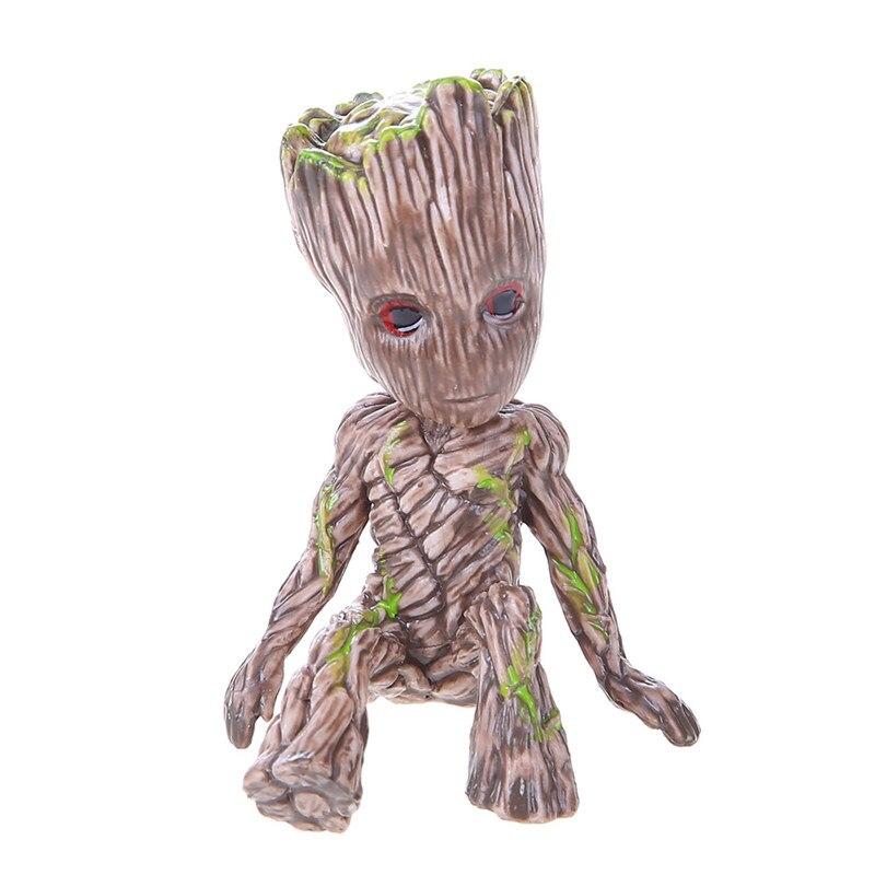 Maceta de Groot de bebé, plantador de flores, figuras de árbol para hombre, modelo bonito de PVC, pluma de juguete, maceta para jardín, maceta para flor, regalo para niños