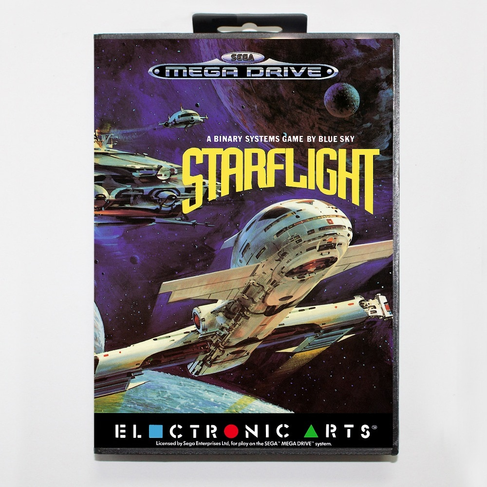 Estrella vuelo 16 poco SEGA tarjeta de juego MD con caja de...