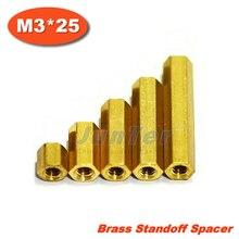 Intercalaire en laiton M3 femelle   500 pièces/lot, entretoise M3 femelle 25mm