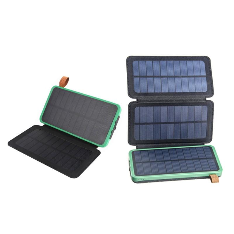 5V 2,1 A 10W Klapp Faltbare Wasserdichte Tragbare Solar Panel Ladegerät Mobile Power Bank für Telefon Batterie Dual USB Outdoor