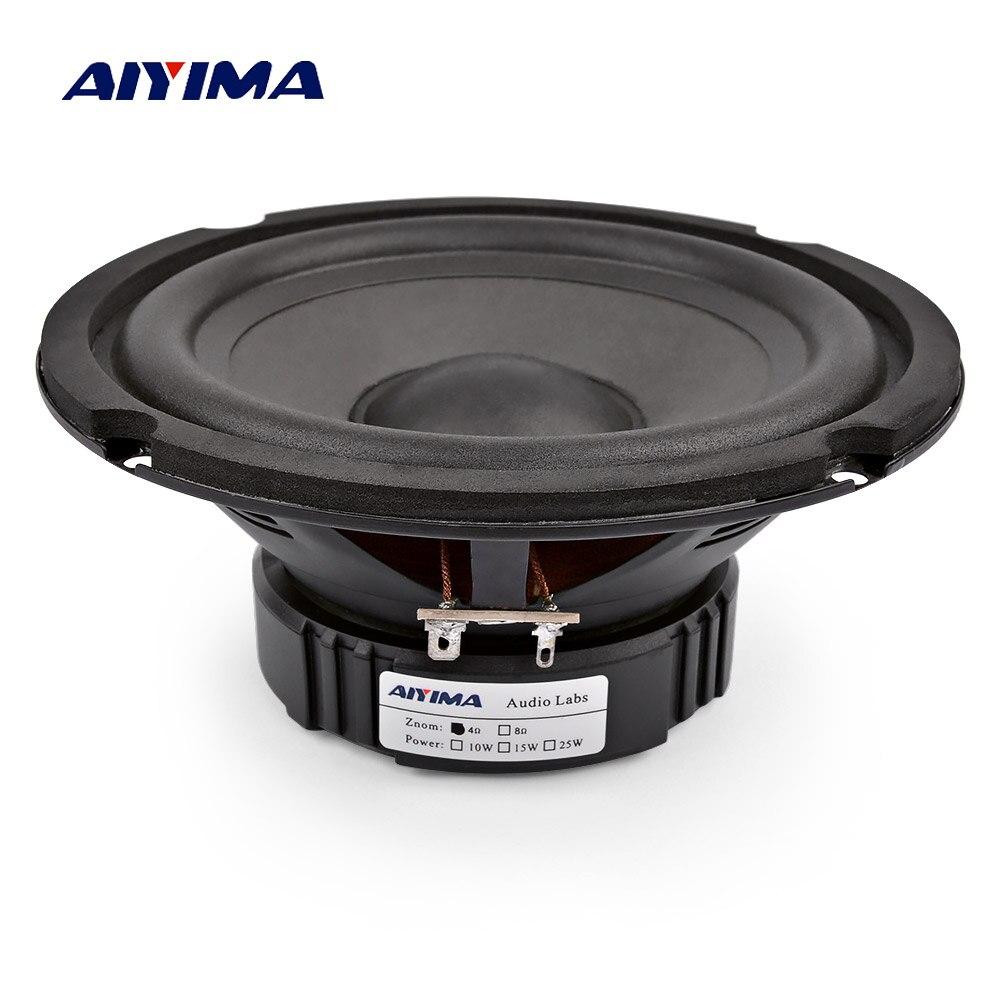 AIYIMA 6,5 дюймов бас аудио колонки 4 8 Ом 40 Вт Профессиональный низкочастотный динамик Высокая чувствительность мультимедиа громкоговоритель DIY домашний кинотеатр