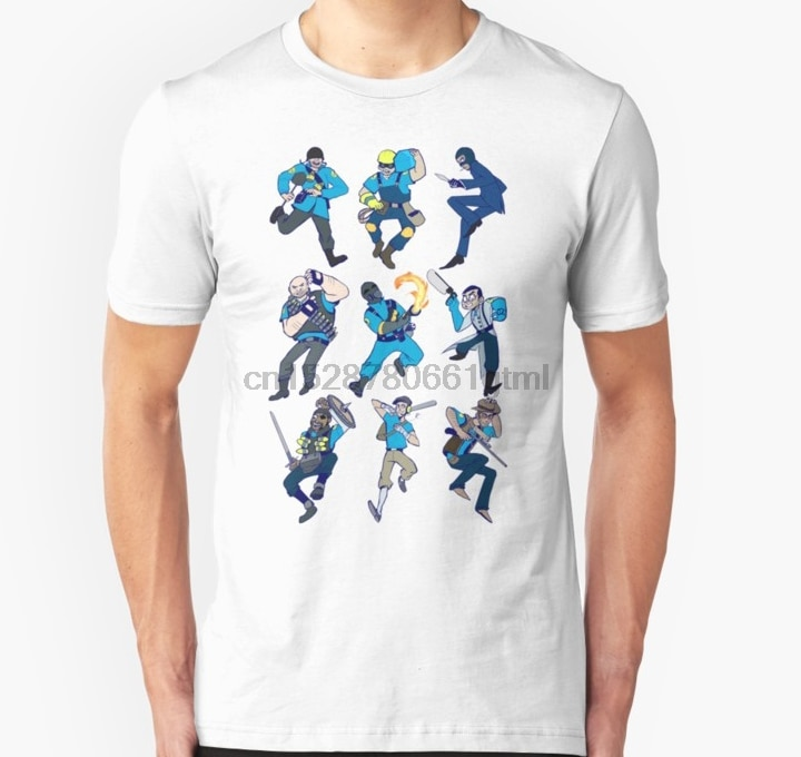 Camiseta de manga corta para hombre, camiseta Unisex de Team Fortress 2 para mujer