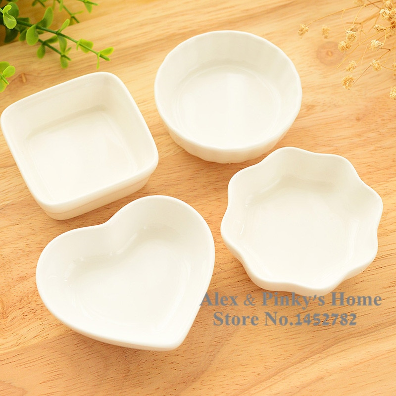 1pc Japanese White Ceramic Dishes Kitchen Seasoning Sauce Vinegar Multi-dish Hotpot Plates