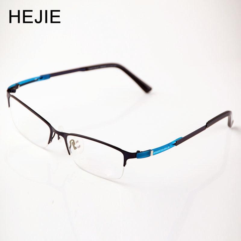 Marcos de gafas de acetato y Metal para hombre y mujer, marca Half Rim, ópticas para hombre y mujer montura de gafas, tamaño 54-17-145mm Y1152