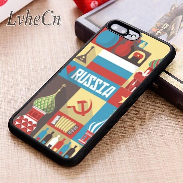 Lvhecn símbolos rússia capa de telefone para iphone 5 6s 7 8 plus x xr xs max 11 pro samsung galaxy s7 edge s8 s9 s10
