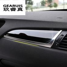 Diseño de coche para BMW X3 F25 X4 F26 vice drive Manilla de guantera guante de decoración caja de tiras de cubierta pegatina Interior auto Accesorios