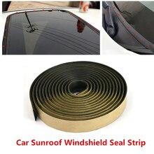 5M Universal Car Weatherstrip Car Door Seal Strip Front Rear Windshield Sunroof Weatherstrip Edge Protector Trim Rubber Strip
