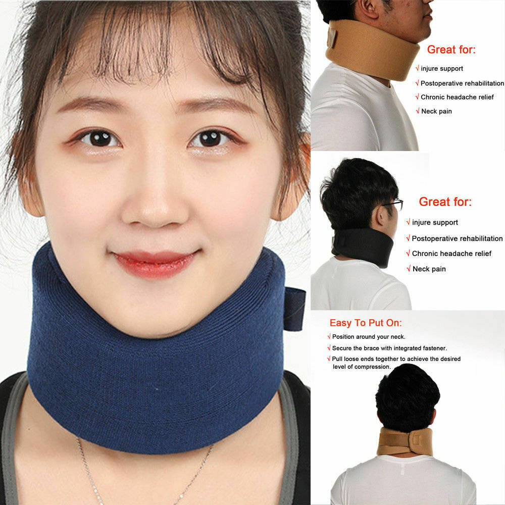 Home Textile Adjustable Pillow Therapy Unisex Soft Foam Cervical Collar Support Neck Brace Shoulder