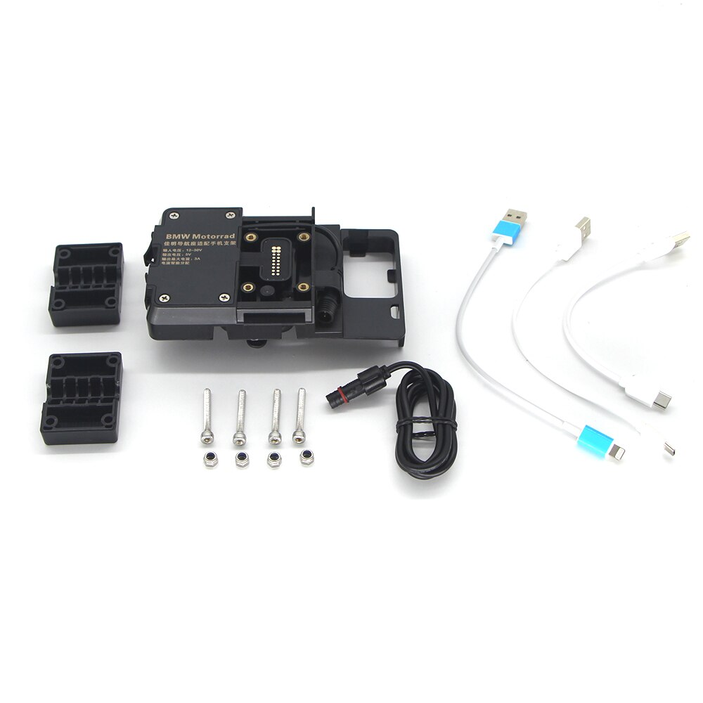 All New For BMW R1250GS/ADV LC R1200GS F750GS F850GS ADV Mobile Phone Navigation Bracket Motorcycle USB Charging 12MM Mount