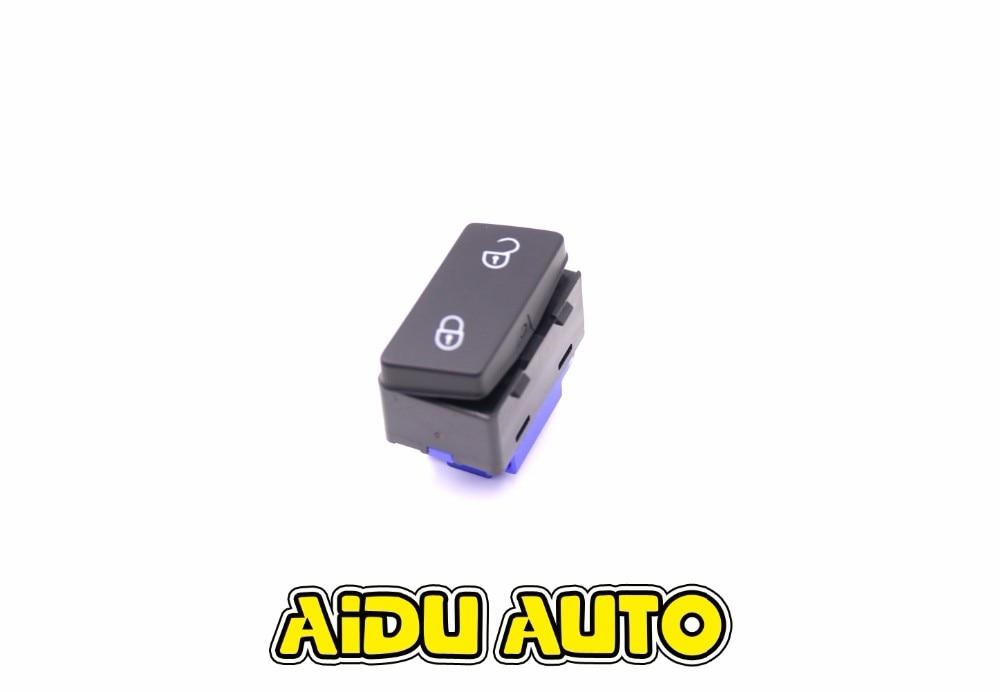 Botón de interruptor de bloqueo de puerta Central de seguridad delantera izquierda para VW Caddy Touran 1TD962125 1TD 962 125