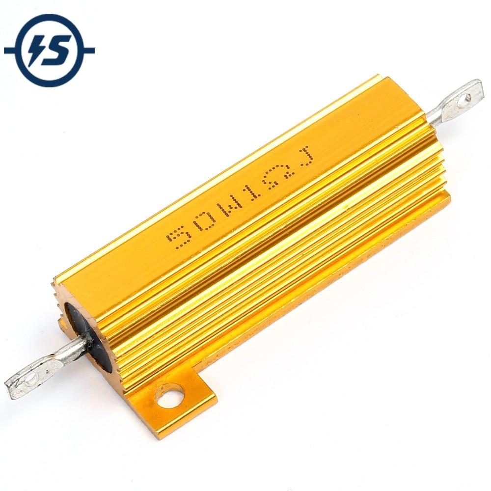 Высокомощный резистор RX24 1R, 1 Ом, 50 Вт, алюминиевый металлический корпус, резистор теплоотвода
