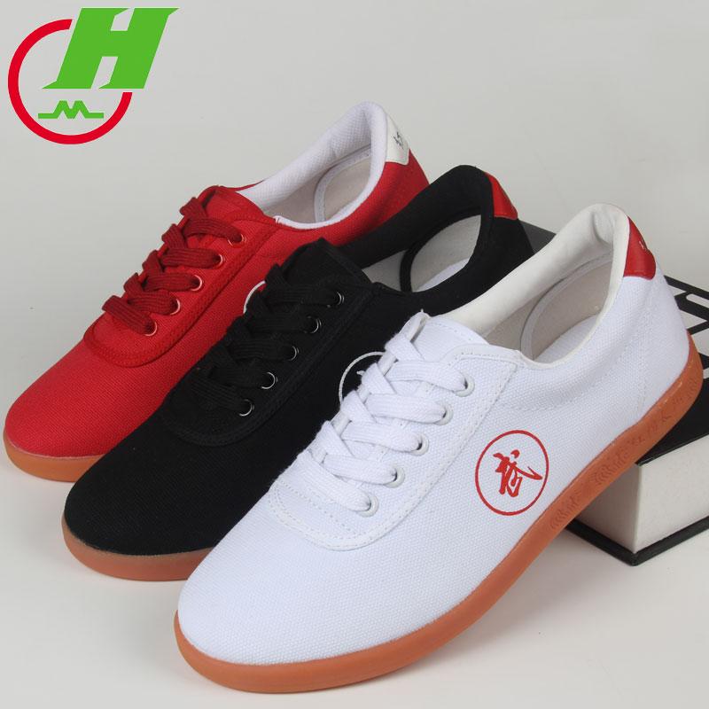 Free Shipping High quality Tai Chi Shoes canvas Chinese Kung Fu Wing Chun Shoes training Martial Arts taekwondo karate Shoes