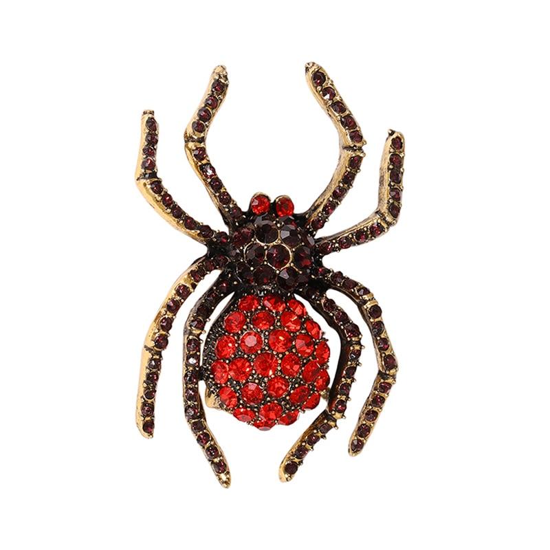 EASYA, broche de araña de diamantes de imitación Estilo Vintage, joyería de cristal, broches de lagarto Gecko para accesorios de abrigo para mujer