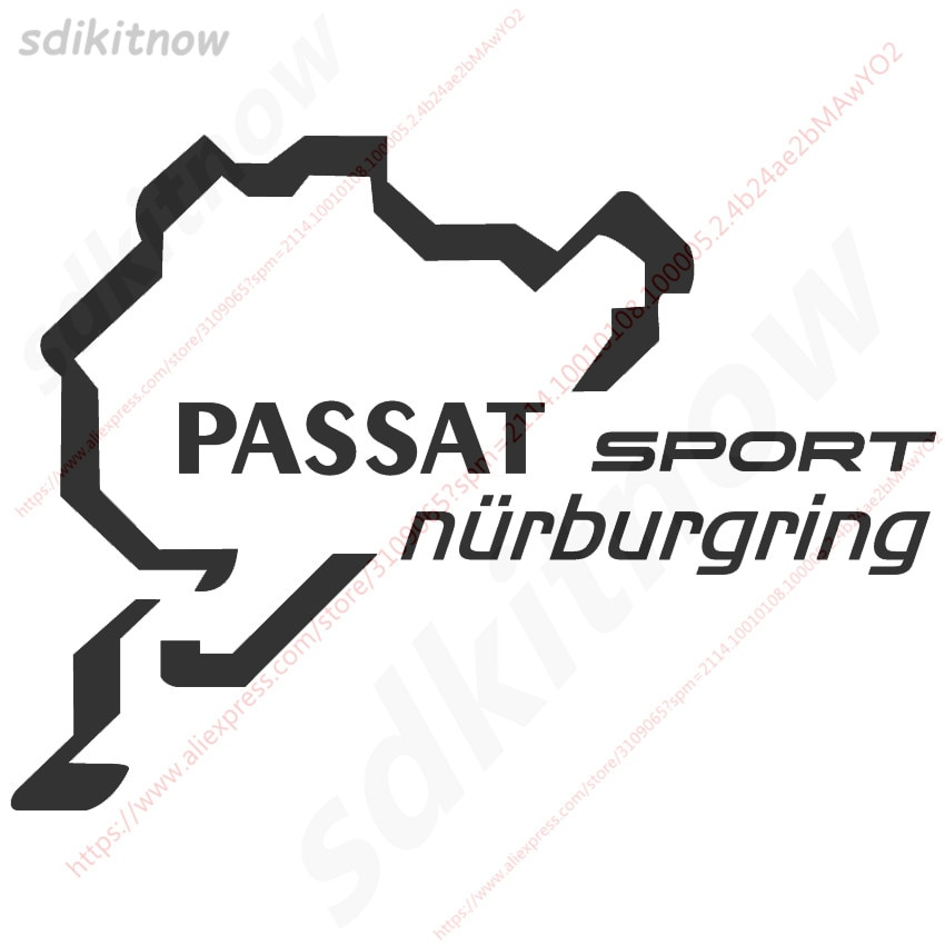 Nova nurburgring esportes de corrida windows porta corpo pvc decalque estilo do carro para volkswagen passat b3 b4 b5 b6 b7 b8 cc 2000-2009