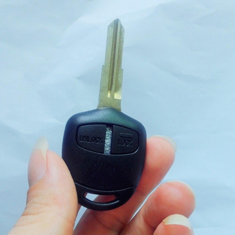 Пульт дистанционного управления KL1 с 2 кнопками, чехол для Mitsubishi Lancer EX Evolution Grandis Outlander, запасной корпус для ключа с логотипом
