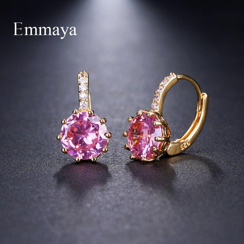 Emmaya brincos stud, moda shimmery aaa cz, brincos para mulheres, presentes do elemento, atacado, preço de fábrica