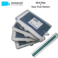 Novecel 50pcs 삼성 갤럭시 S8 S9 GAODI MT KAWIN YMJ OCA 접착제 LCD 터치 유리 렌즈 필름에 대 한 OCA 광학 투명 접착제