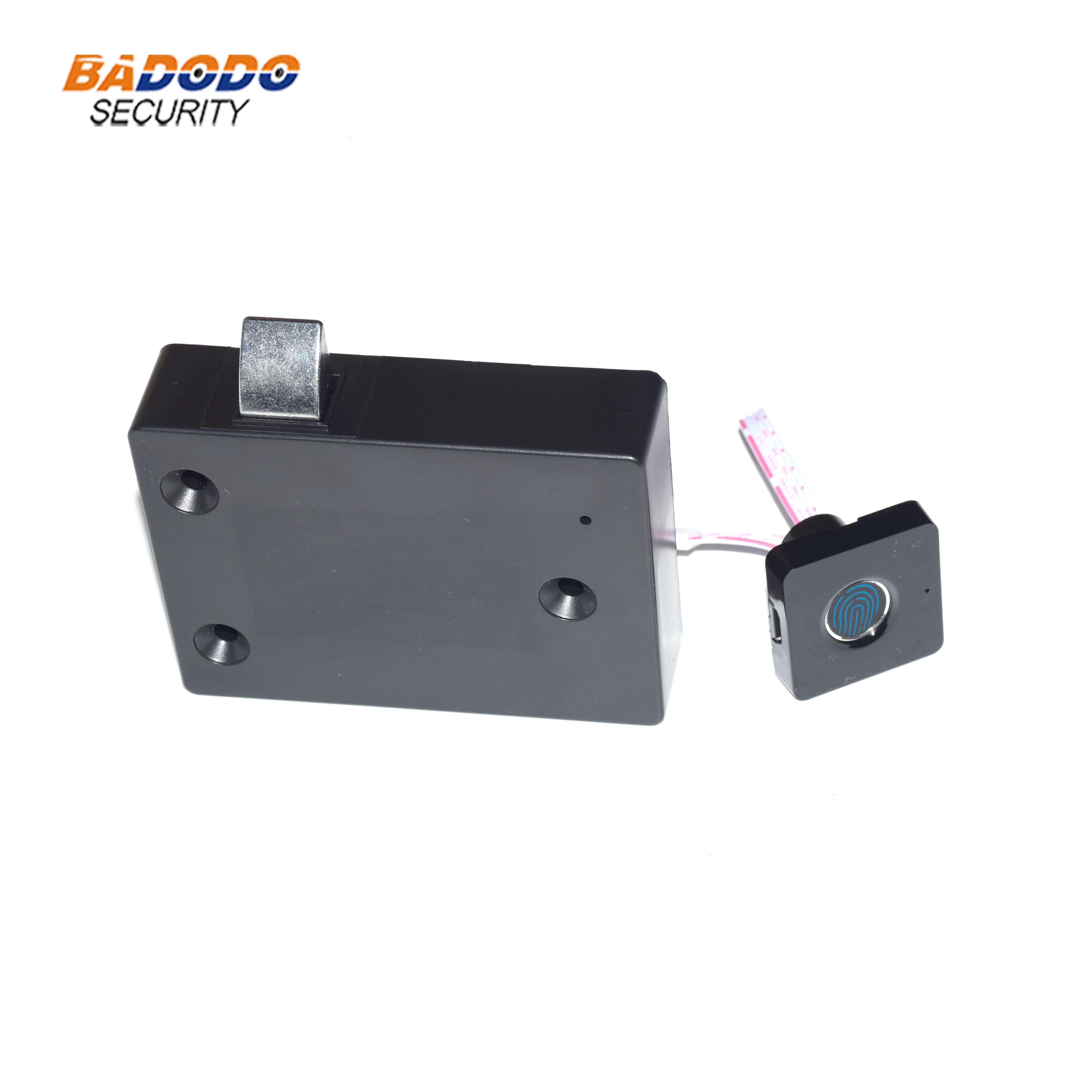 Cerradura de puerta de caja de huella dactilar de plástico cerradura eléctrica biométrica con batería recargable para armarios de cajones